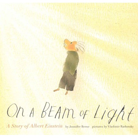 Albert Einstein Photograph - On a Beam of Light : A Story of Albert Einstein