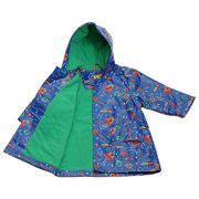 Little Boys Size 6-6X Blue Outerspace Lined Raincoat