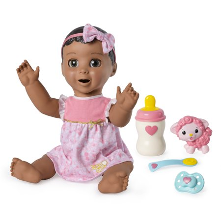 Luvabella Brown Hair, Responsive Baby Doll with Real Expressions and Movement, for Ages 4 and - Wind Up Doll Makeup