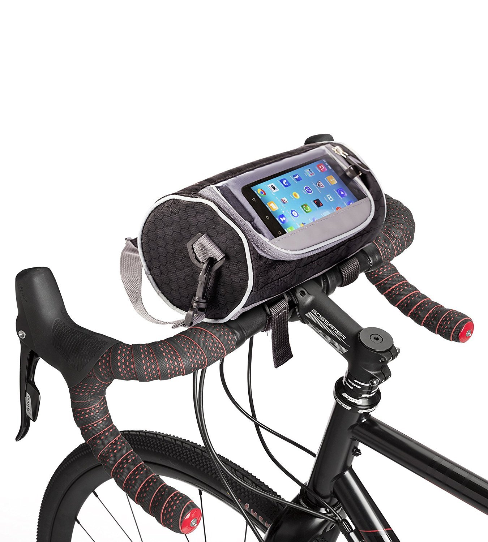 Boxiki Travel Bicycle Handlebar Bag For Road Bikes Mountain Bikes