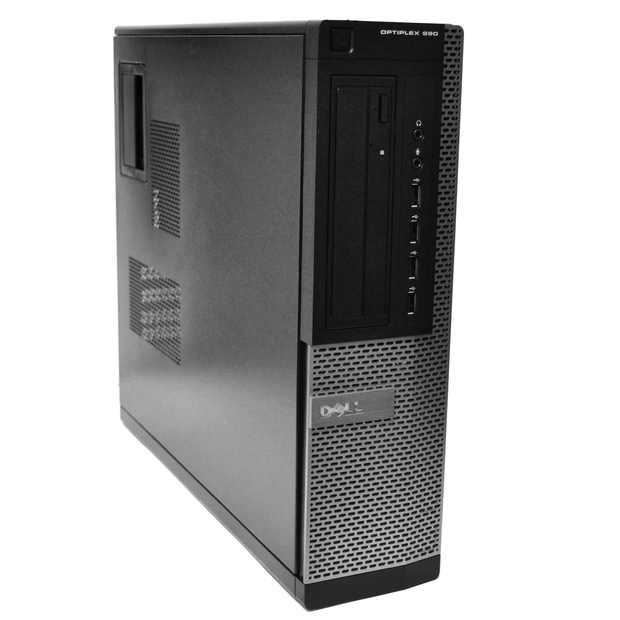 Certified Refurbished Dell Gray Optiplex 990 Desktop Intel Quad Core 3.1GHz 8GB RAM 320GB HDD Intel HD Graphics 2000 DVD-RW Windows 10 Professional