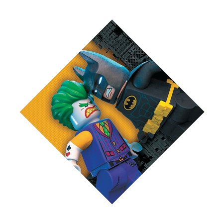 Fun Express - Lego Batman Lunch Napkins (16pc) for Birthday - Party Supplies - Licensed Tableware - Licensed Napkins - Birthday - 16 Pieces](Lego Napkins)