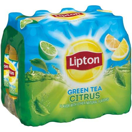 Lipton Thé vert aux agrumes (16.9 fl oz - 12) 202,8 Fluid Ounce Pack de 12 bouteilles en plastique