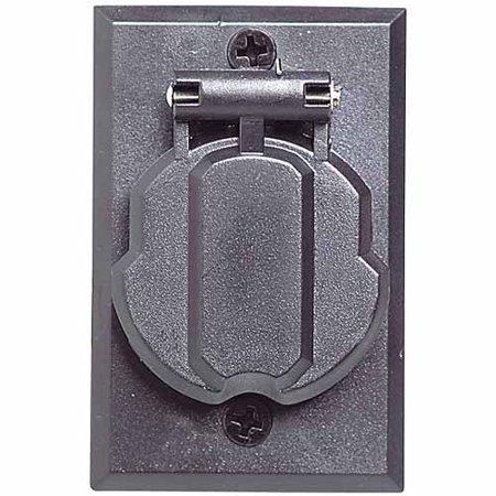 Design House 502112 Replacement Electrical Outlet for Outdoor Lamp Post, Black Finish