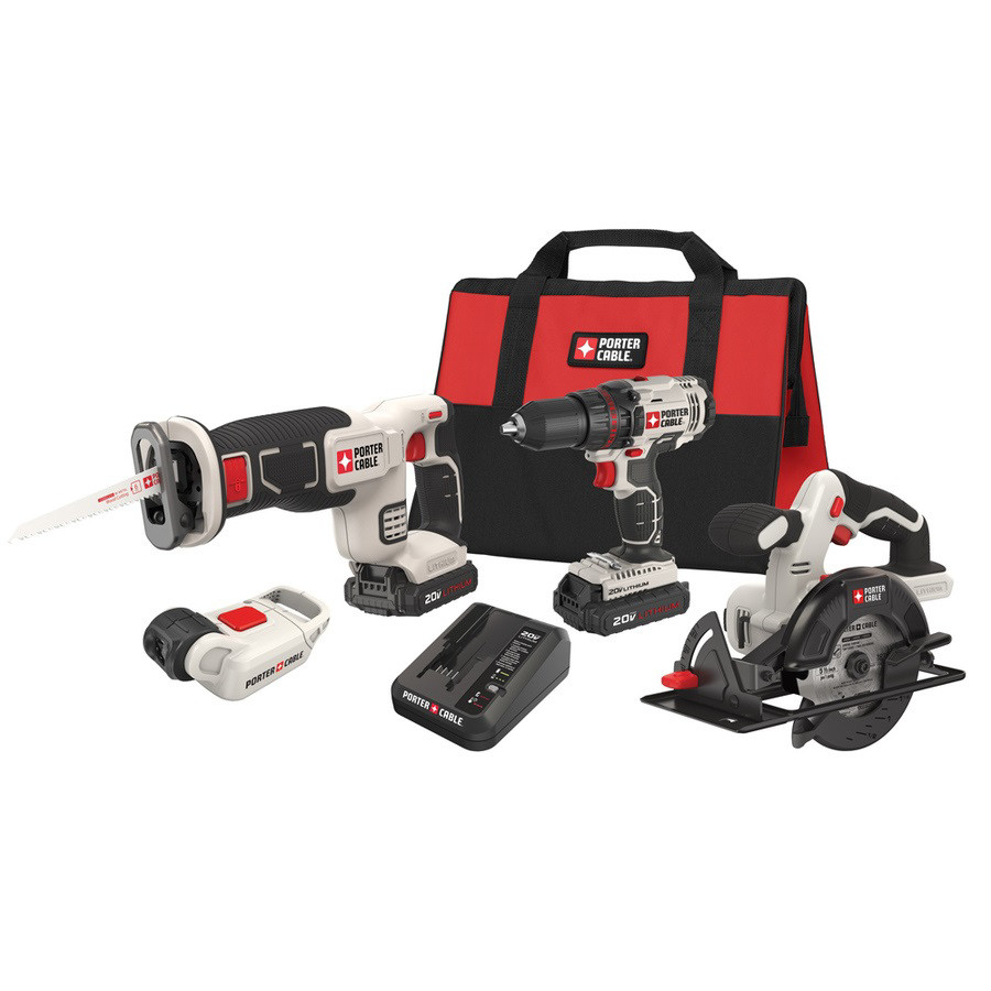 Factory-Reconditioned Porter-Cable PCCK616L4R 20V MAX Cordless Lithium-Ion 4-Tool Combo Kit (Refurbished) by
