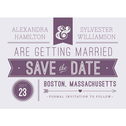 Retro Banner Standard Save the Date