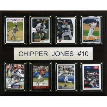 C&I Collectables MLB 12x15 Chipper Jones Atlanta Braves 8-Card Plaque Chipper Jones Atlanta Braves Baseball
