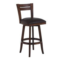"Armen Living Bristol 30"" Bar Height Swivel Wood Bar Stool with Finish and Pu by Armen Living"