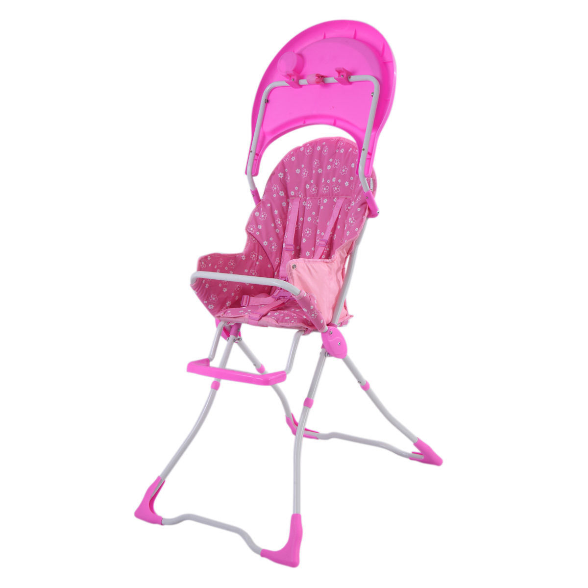 GHP 33-Lbs Capacity Pink Portable Folding Feeding Booster Infant Seat Baby High Chair