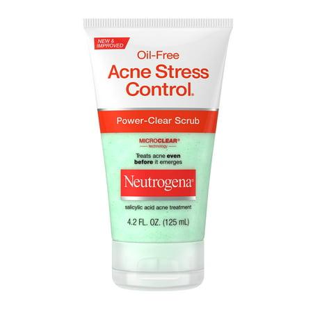 Neutrogena Oil-Free Acne Salicylic Acid Face Scrub, 4.2 fl oz