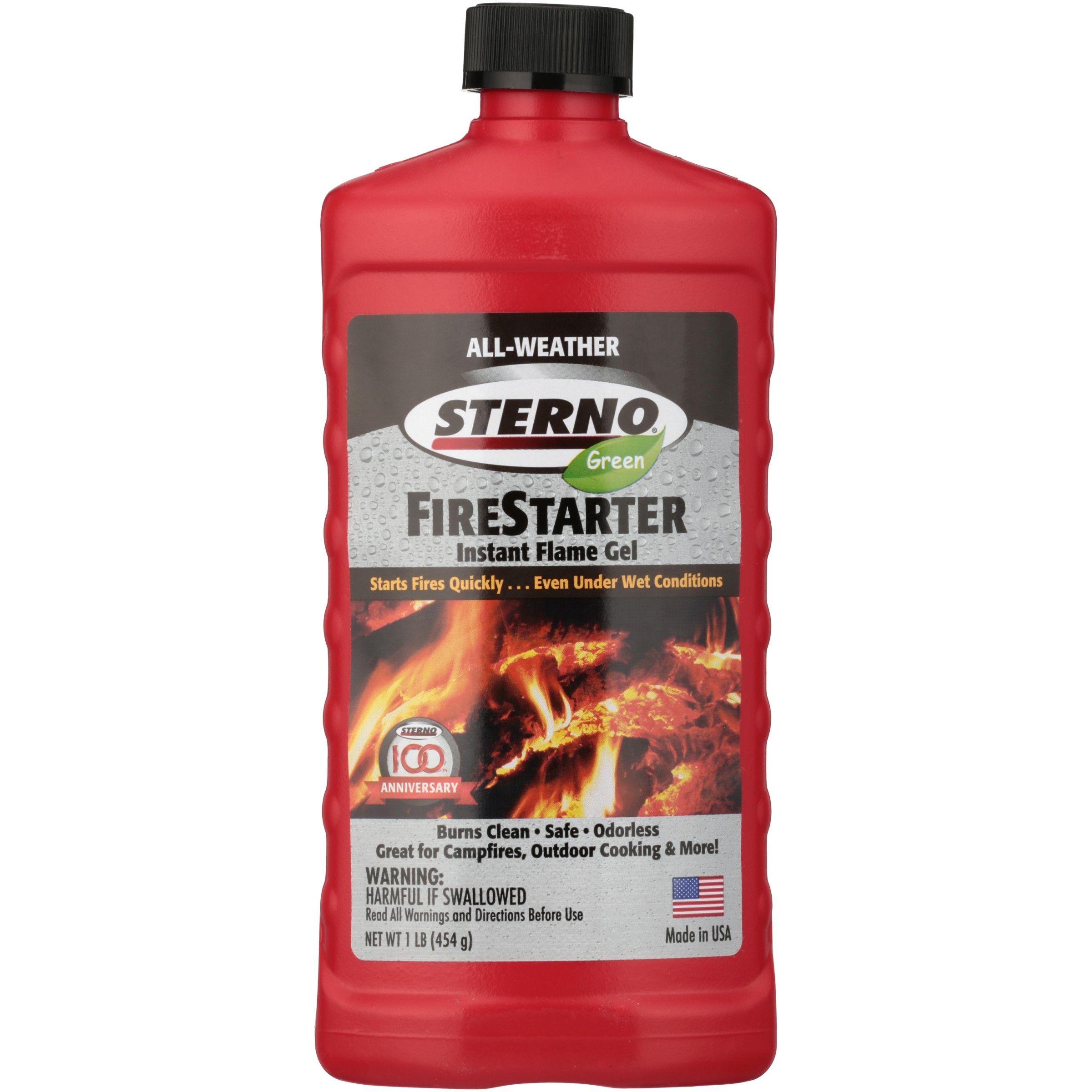 Sterno® Green FireStarter Instant Flame Gel 1 lb. Bottle