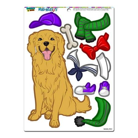 Golden Retriever Dress-Up - Dog Pet Funny MAG-NEATO'S(TM) Refrigerator Magnet](Dogs Dressed Up Funny)