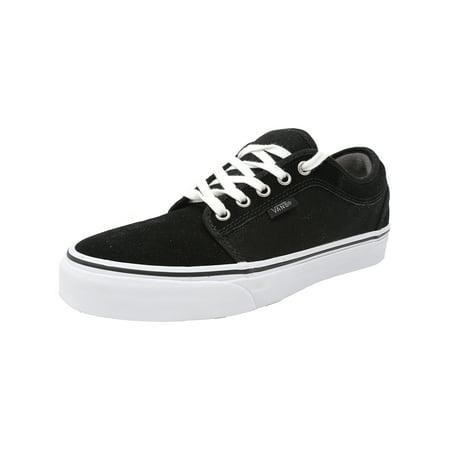 Vans - Vans Men s Chukka Low Black   Pewter White Ankle-High Canvas  Skateboarding Shoe - 7M - Walmart.com 24a221c0a