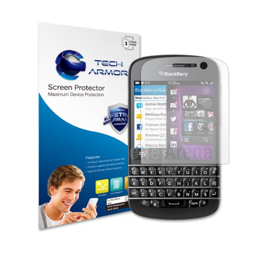 Tech Armor Blackberry Q10 Premium Antiglare & Antifingerprint Screen Protector