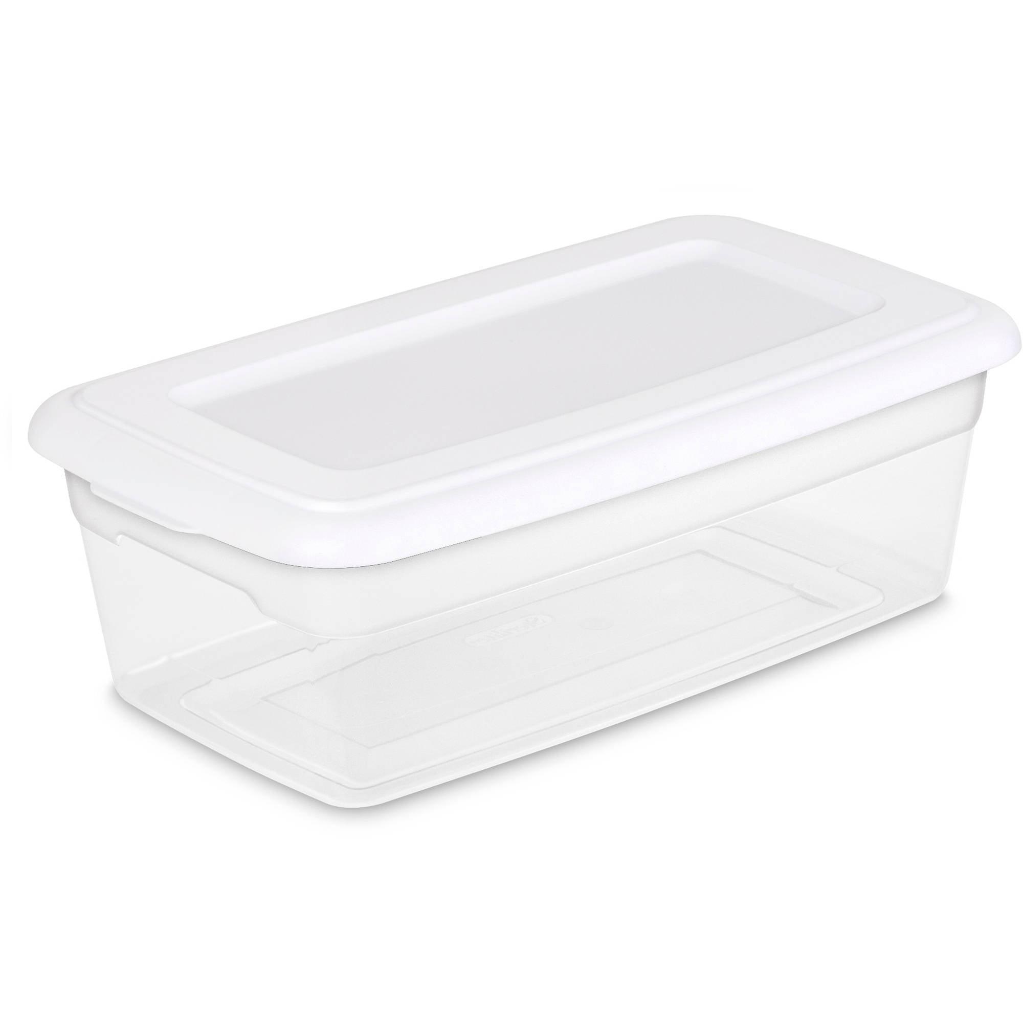 Sterilite 6 Quart Storage Box- White (Available in Case of 36 or Single Unit)