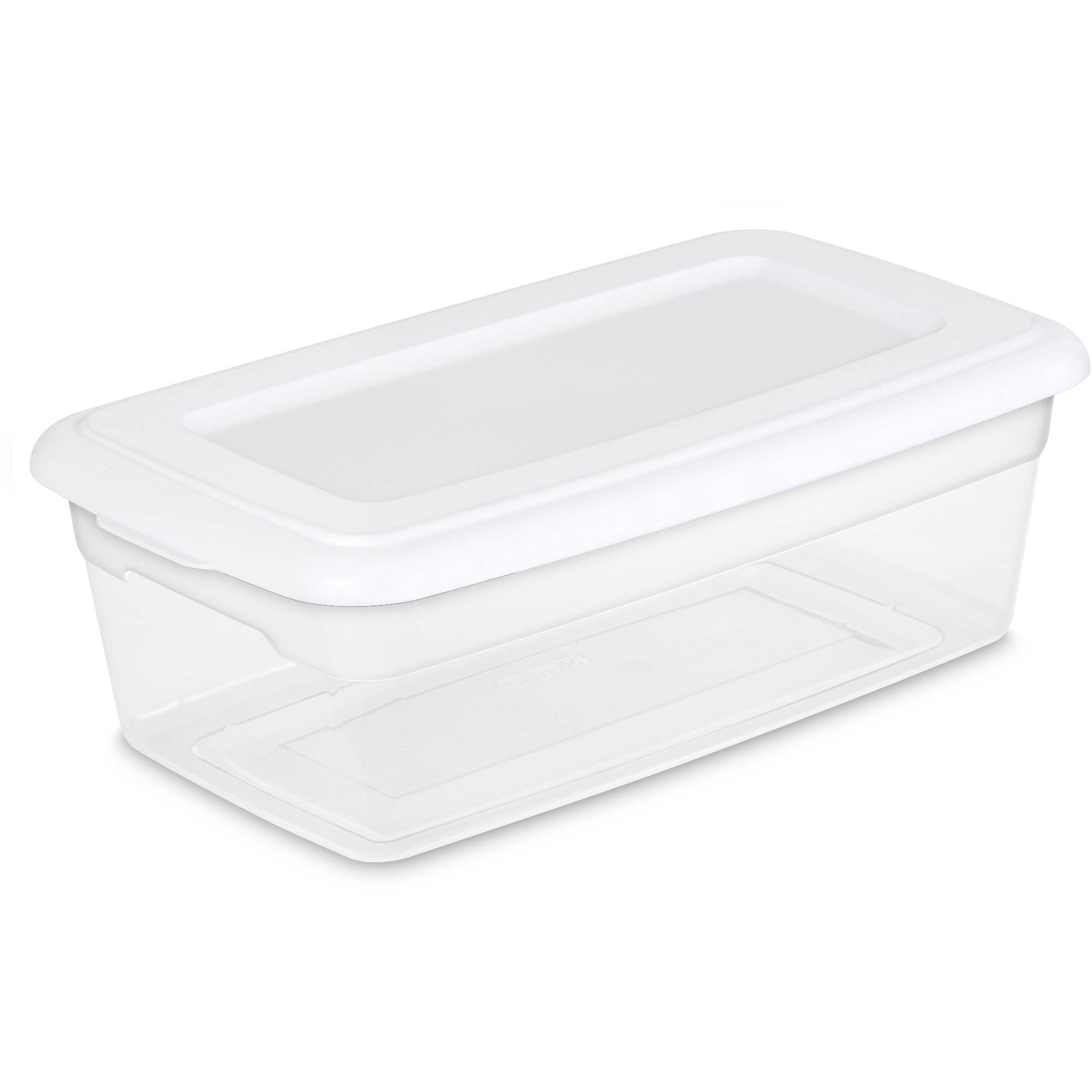 Sterilite 6 Quart Storage Box- White (Available in Case of 36 or Single Unit)