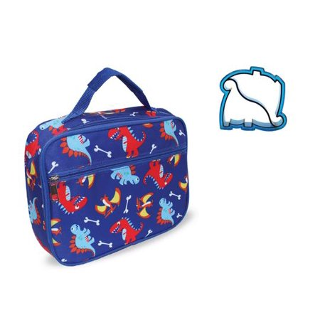 Keeli Kids Boys Dinosaur Lunch Box School Lunch Bag with Dino Sandwich Cutter in -