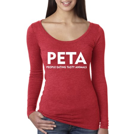 New Way 608 - Women's Long Sleeve T-Shirt Peta People Eating Tasty Animals