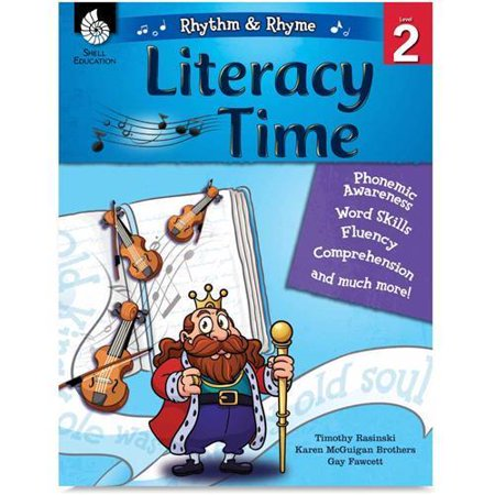 51338 Shell Rhythm & Rhyme Literacy Time Level 2 Education Printed Book by Karen Brothers, David Harrison - Book - 144 Pages