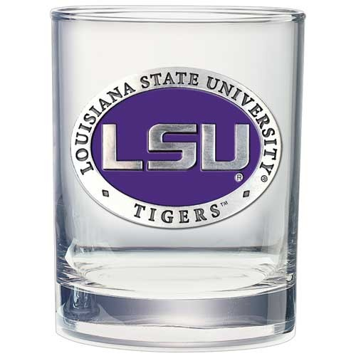 LSU Tigers Double Old Fashioned Glass Set