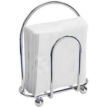 Home Basics Home Basics Napkin Holder, Chrome (Diamond Ring Napkin Holders)