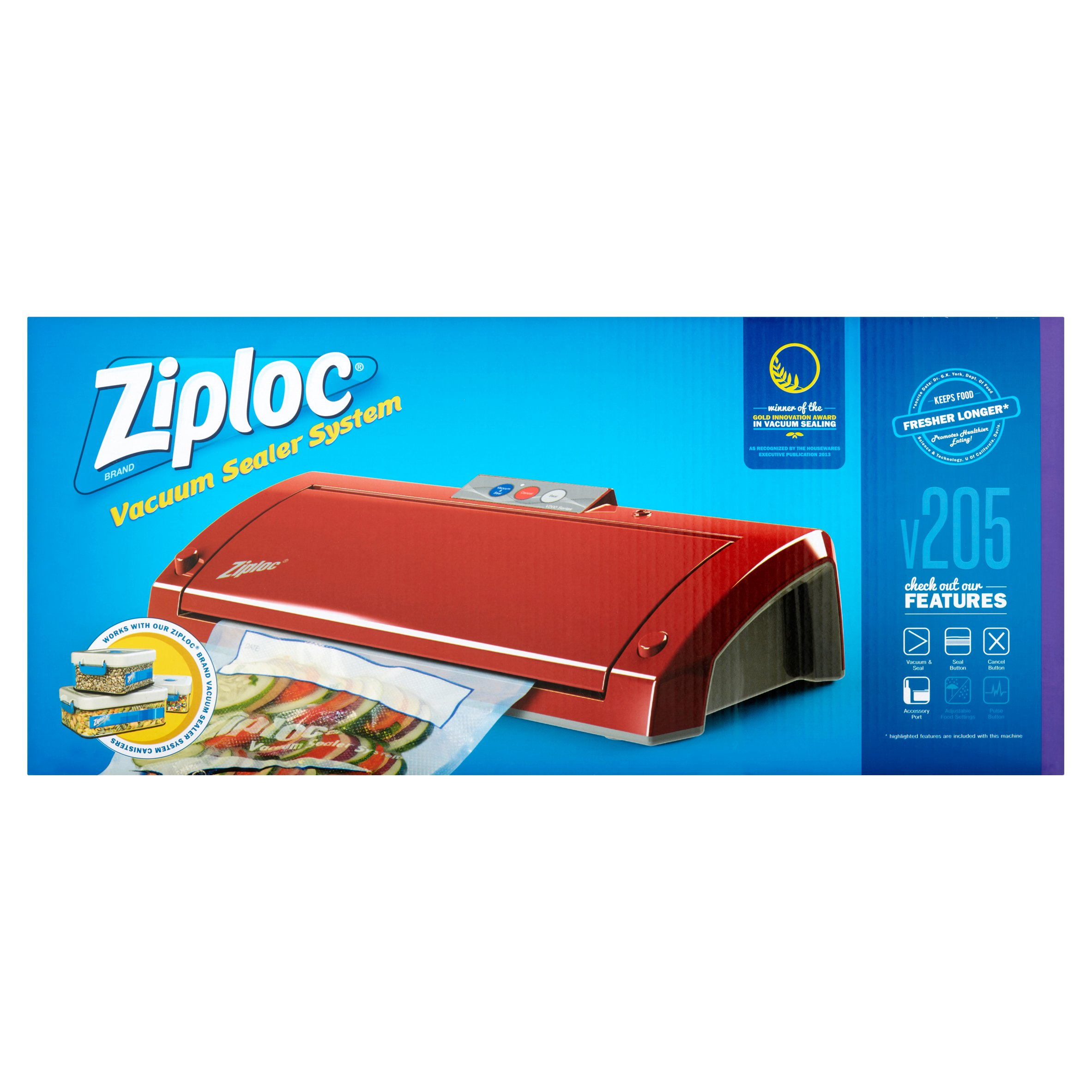 Click here to buy Ziploc Brand Vacuum Sealer V205 by CTi Industries.