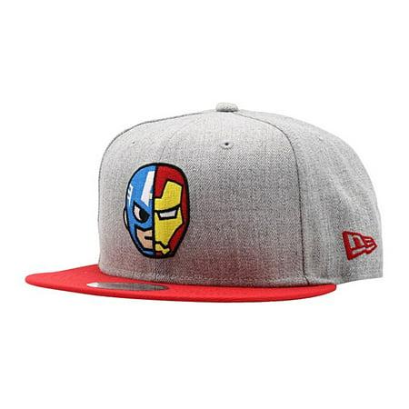 adc00f9a61d Tokidoki - Tokidoki Marvel Captain America Iron Man Half And Half Snapback  Hat - Walmart.com