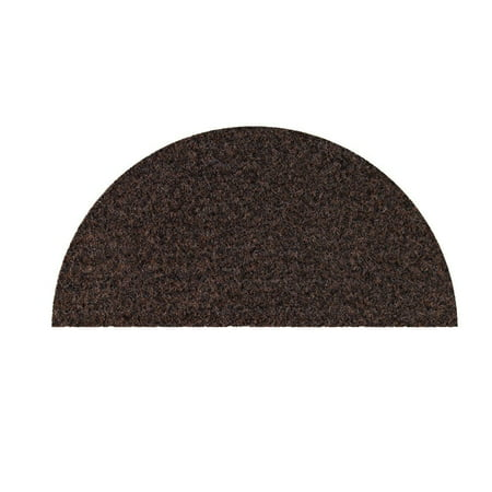 Broadway collection pet friendly area rugs with Rubber Marine Backing for Patio, Porch, Deck, Boat, Basement or Garage with Premium Bound Polyester Edges Chocolate Half Round 24