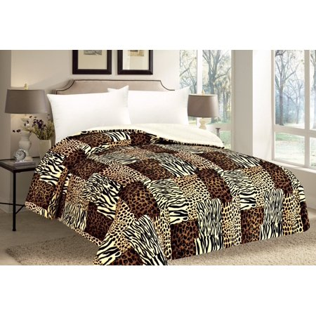 Queen Blanket Animal Zebra Leopard Giraffe Print Bedding Warm Winter Blankets YZ247