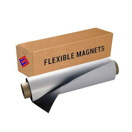 Flexible Vinyl Magnet Sheeting Roll-Super Strong,Many Sizes &Thickness- Commercial Inkjet Printable( 2 ft x 10 ft x 15 mil) 15 Mil Scrim Vinyl
