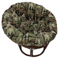 Papasan Chair With Tapestry Cushion