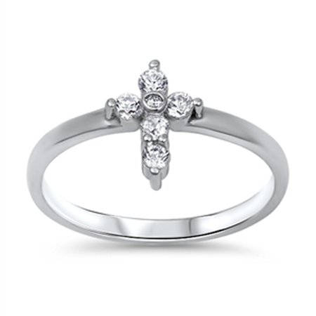 D Sterling Silver Cross Rings Wholesale