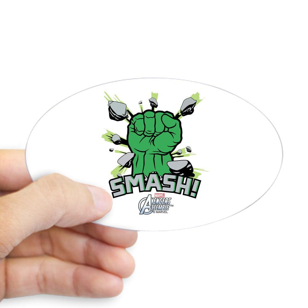CafePress - Hulk Smash - Sticker (Oval)
