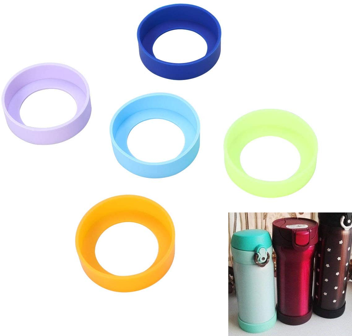 Candy Color Silicone Water Bottle Cup Insulation Protector Cover Sleeve Case B