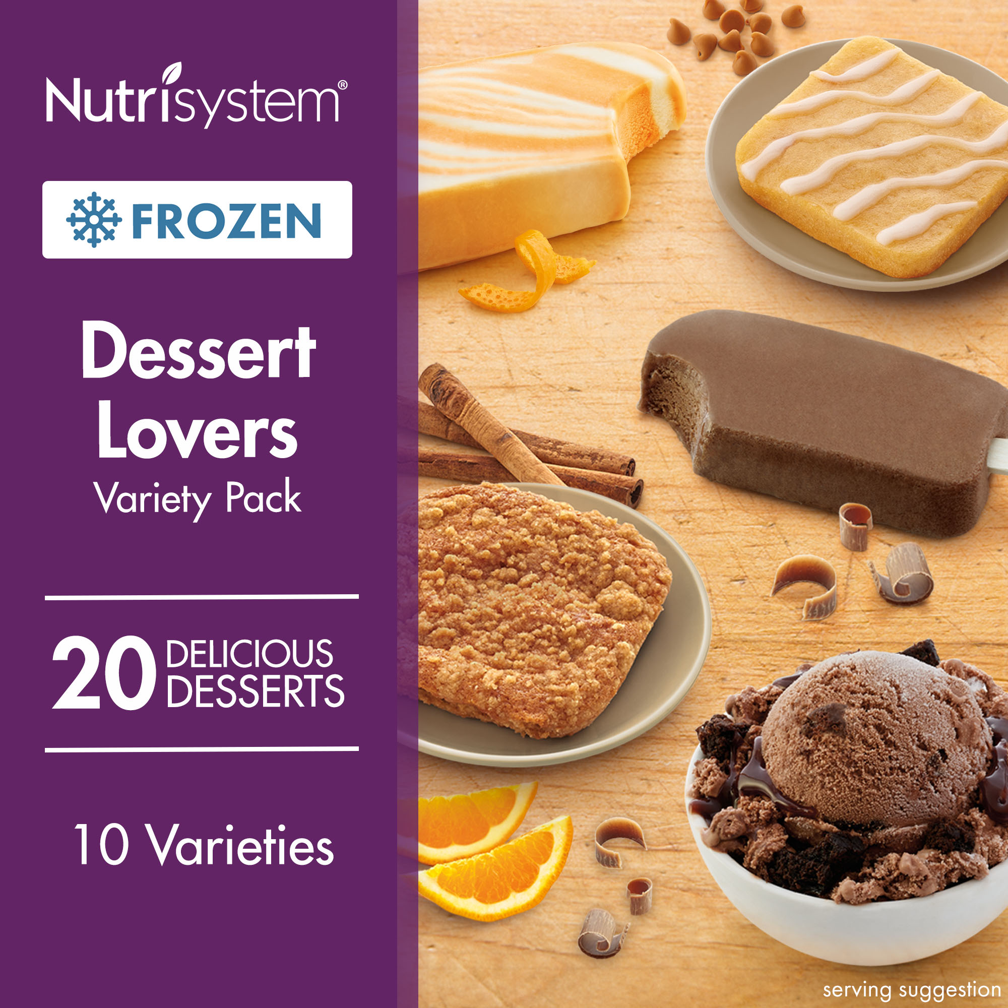 Nutrisystem Frozen Dessert Lovers Variety Pack, 20CT