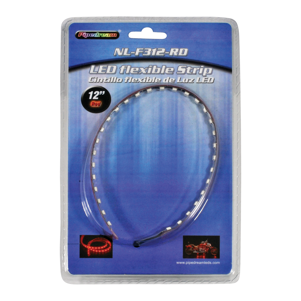 """Nippon NLF312RD 12"""" High Intensity Flexible LED Strip Red"""