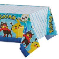 """American Greetings Pokemon Party Supplies Plastic Table Cover, 54"""" x 96"""""""