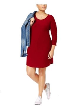 Product Image Planet Gold Trendy Plus Size Kylie Printed Dress Wine 3X dadbdae4a