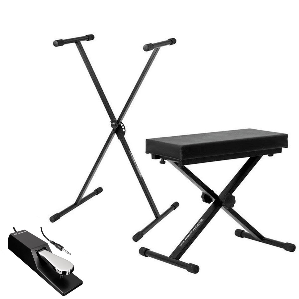 Ultimate Support JSXS300 Single Brace X-Style Keyboard Stand + Medium Keyboard Bench +... by Ultimate Support