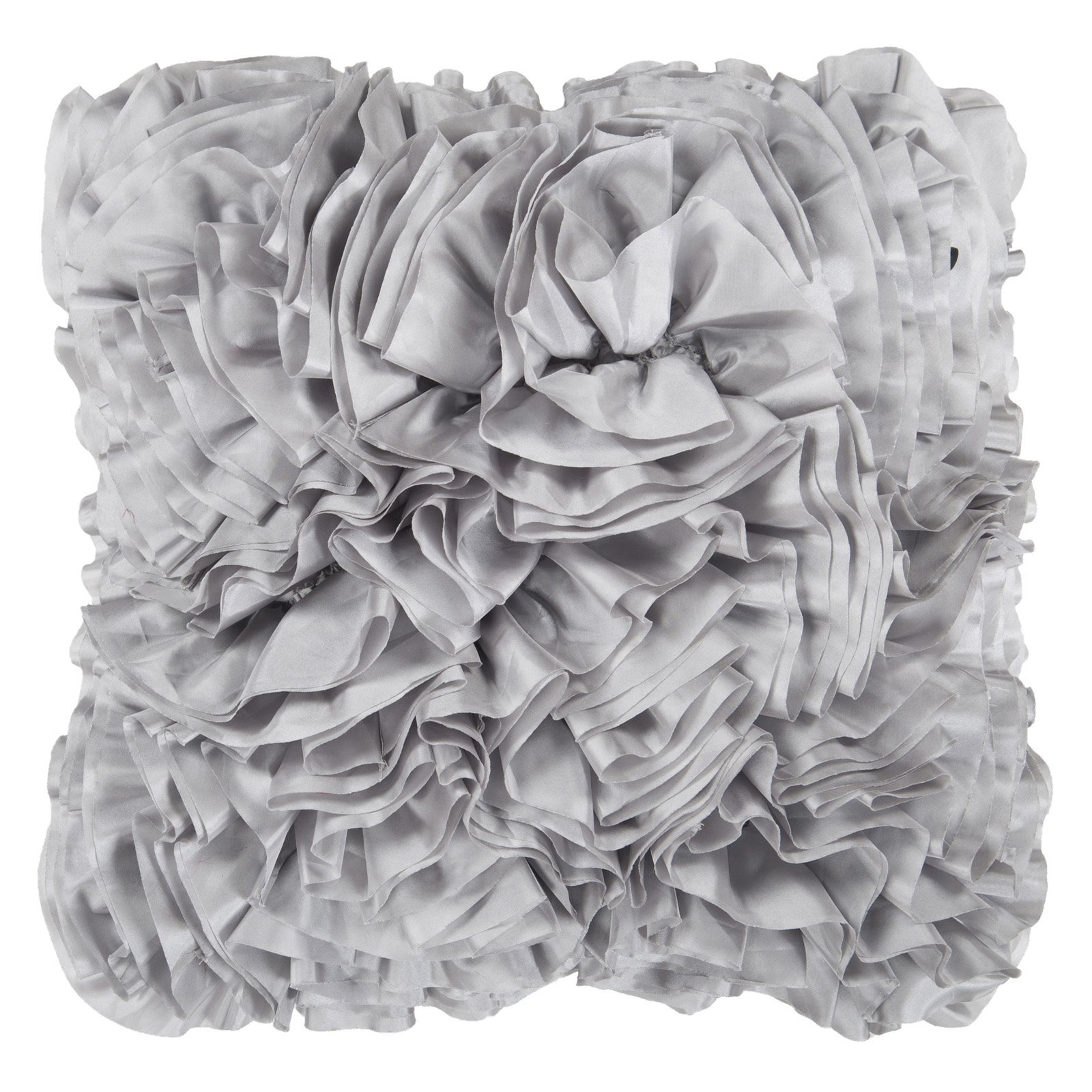 Surya Ruffles Decorative Pillow - Light Gray