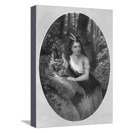 Portrait of Princess Pocahontas Stretched Canvas Print Wall Art