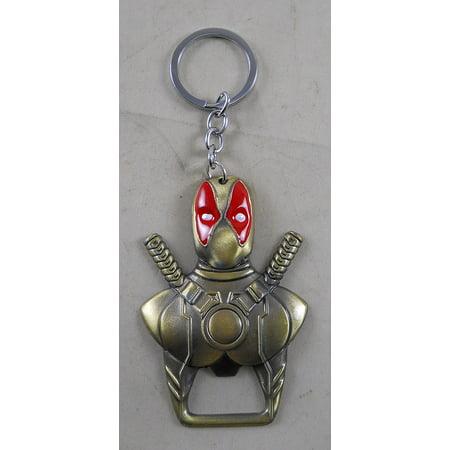 Metal MARVEL DEADPOOL Bottle Opener Key Chain](Bottle Tags)