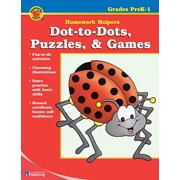 Dot-To-Dots, Puzzles, & Games Homework Helper, Grades Prek-1
