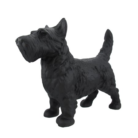 Cast Iron Scottish Terrier Dog Statue Black Enamel (Cast Iron Pointer Dog)