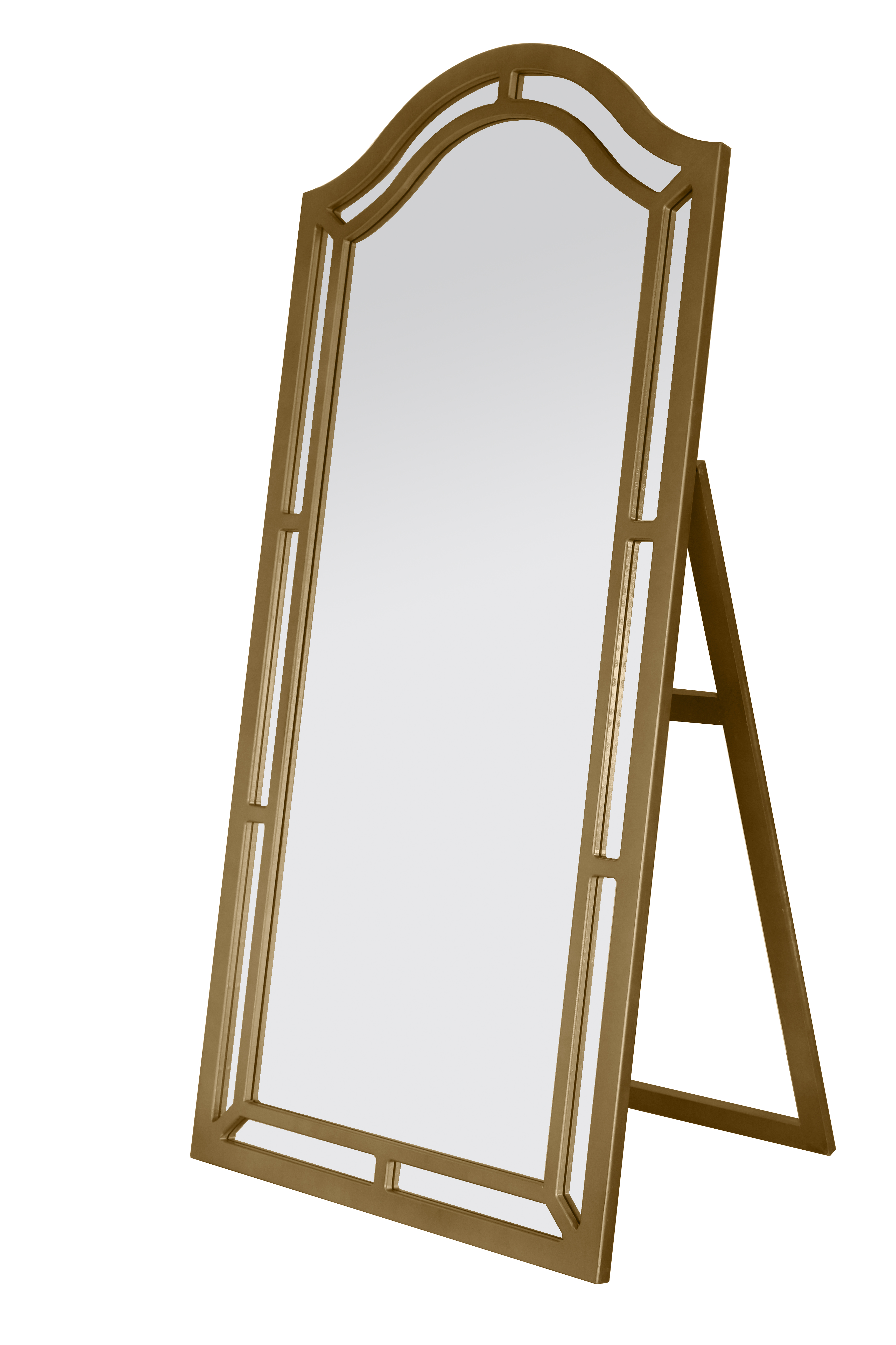 Free standing mirror led lighted 10x1x vanity mirror with for Gold standing mirror