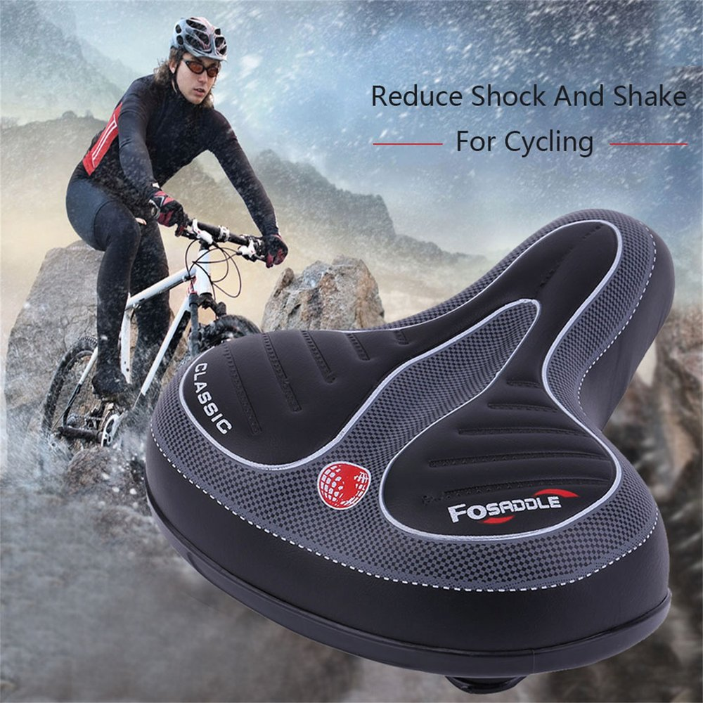 Comfortable Wide Big Bum Bicycle Gel Cruiser Extra Sporty Soft Pad Saddle Seat