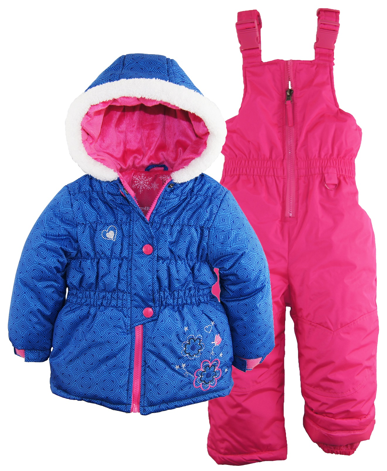 rugged rugged bear toddler girl snowsuit with puffer. Black Bedroom Furniture Sets. Home Design Ideas