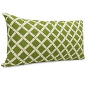 Majestic Home Goods Bamboo Pattern Indoor/Outdoor Lumbar Pillow