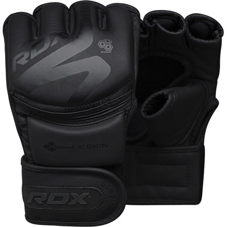 RDX MMA Gloves for Sparring Martial Arts Training Convex Skin for Cage Fighting, Punching Bag, Muay Thai & -