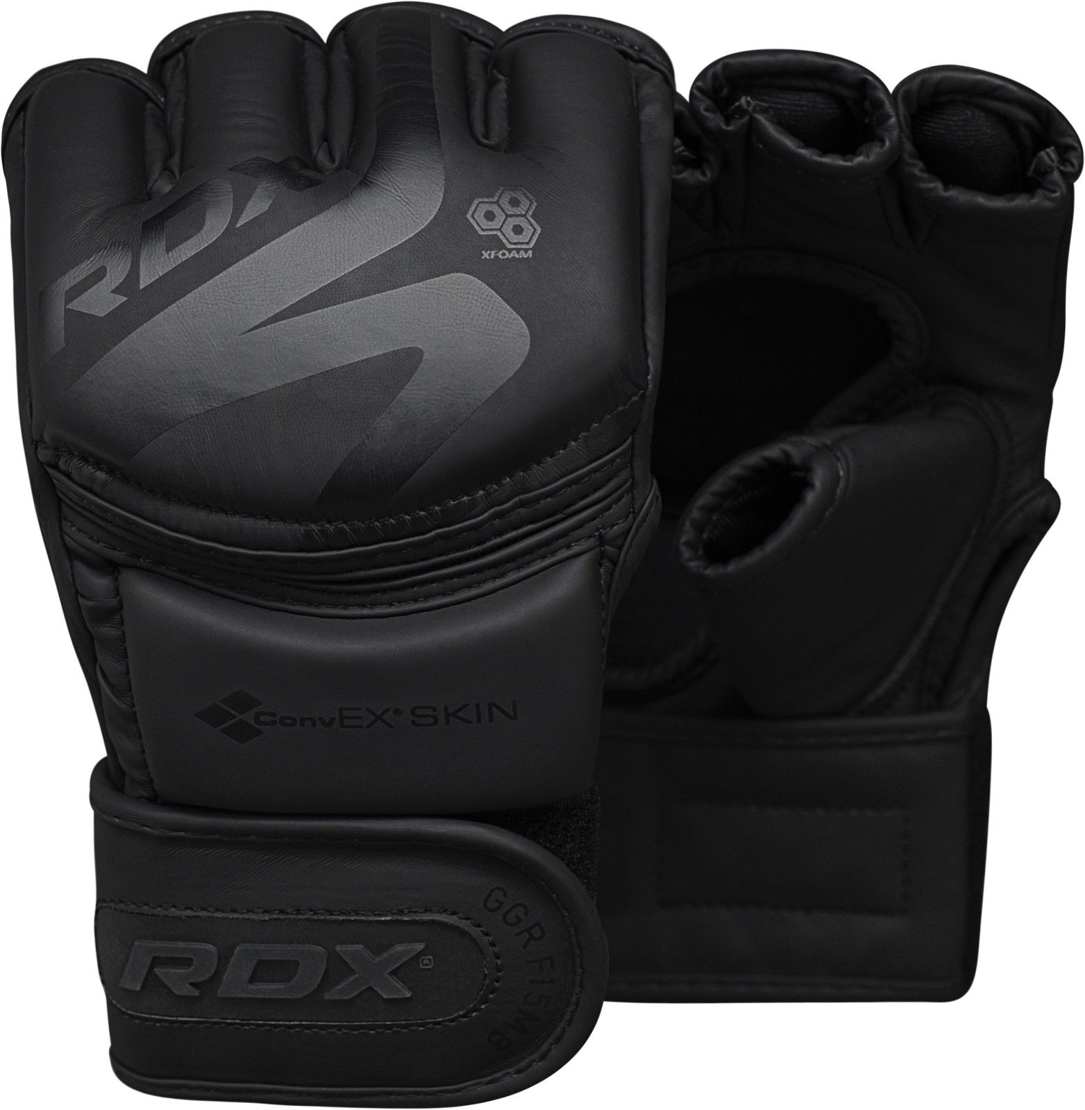 RDX MMA F15 Grappling Kick Boxing Gloves Black